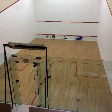 Glass Backed Squash Court